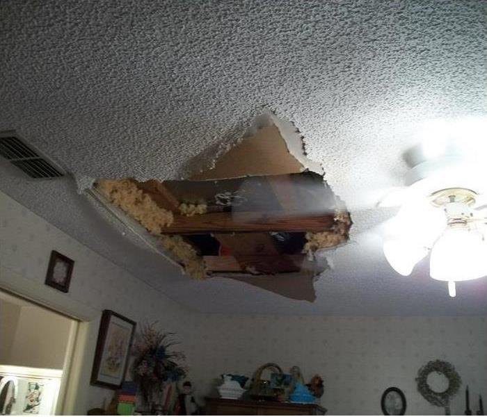Cleveland Water Leak Damages a Ceiling Before