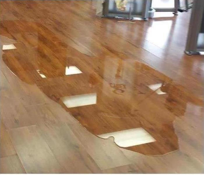 Commercial Water Damage - Ft. Myers Gym Before
