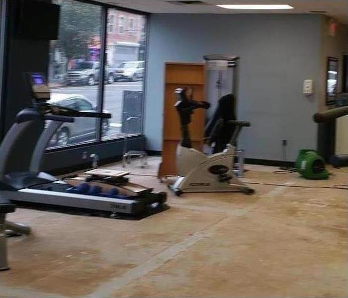 Commercial Water Damage - Ft. Myers Gym After