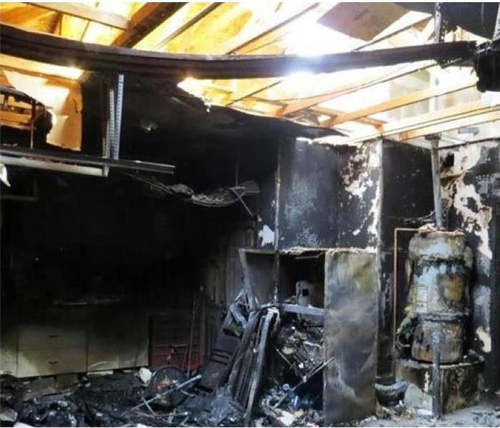 Fire loss in a home