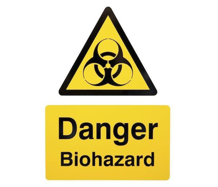 Yellow and Black Biohazardous Signs